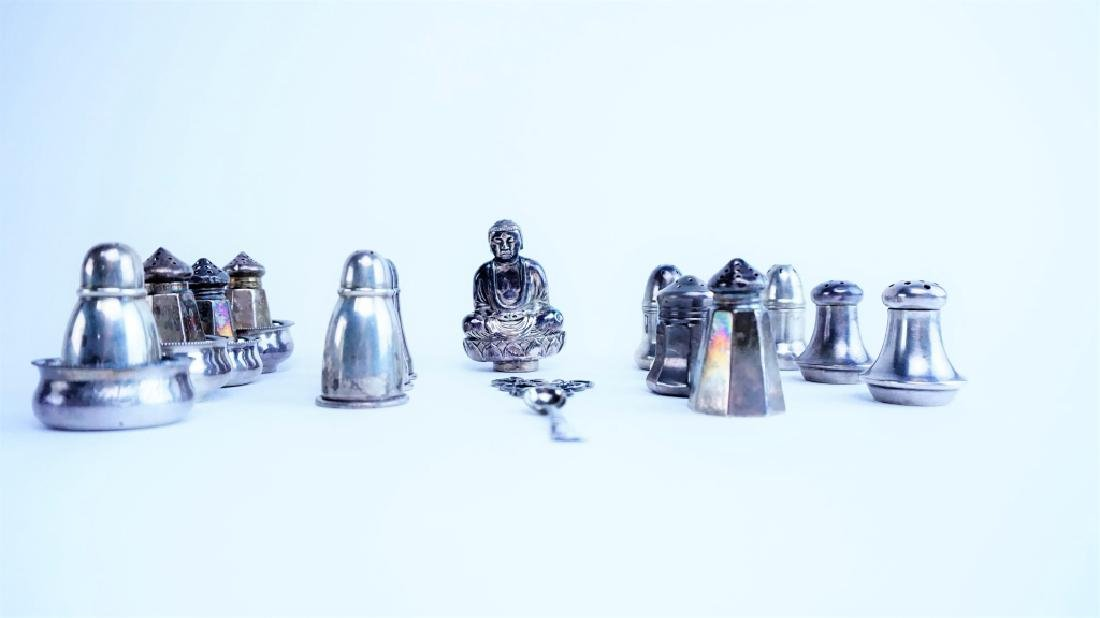 22pcs STERLING SILVER SALT & PEPPERS - 3