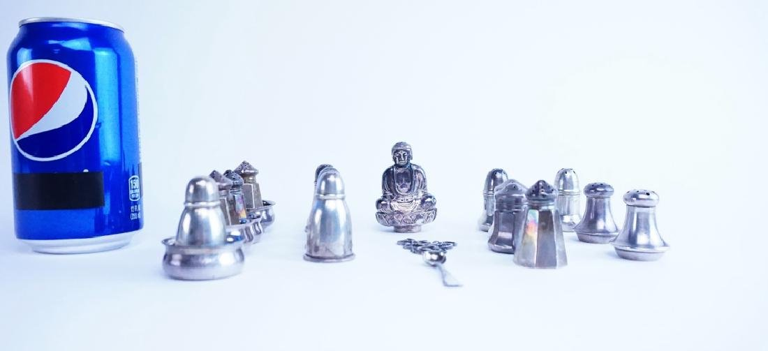 22pcs STERLING SILVER SALT & PEPPERS - 5