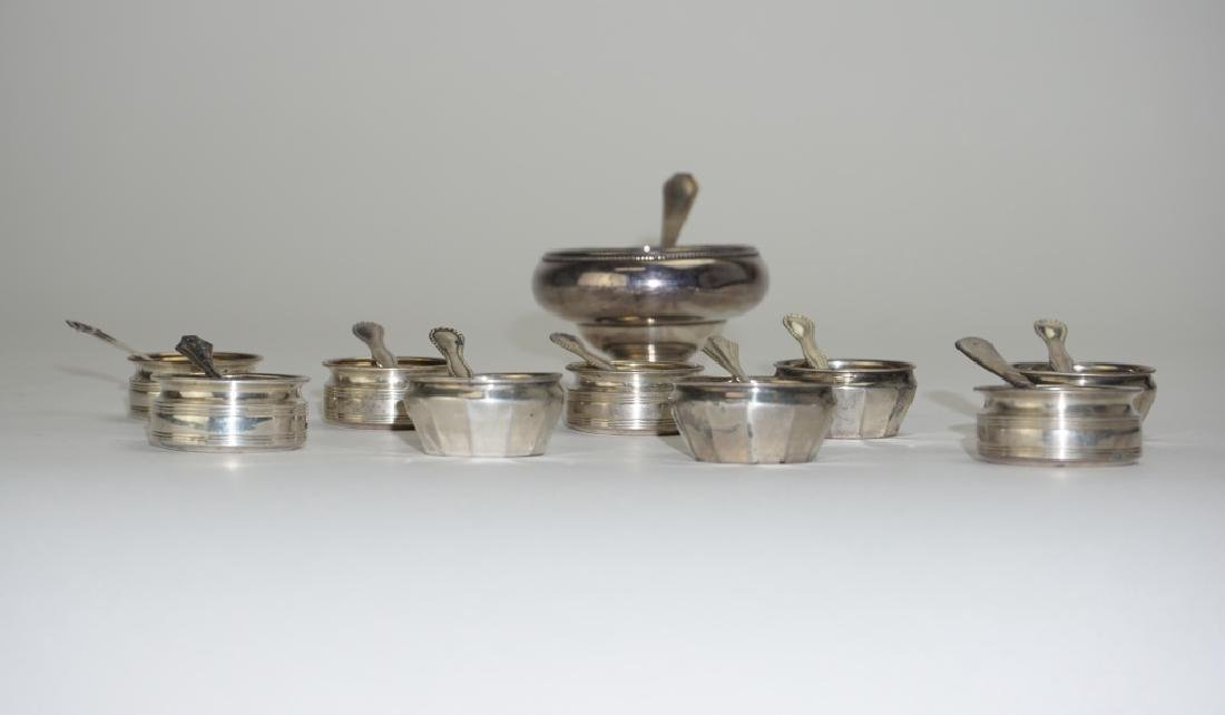 20pc ASSORTED STERLING SILVER SALT CELLARS - 7