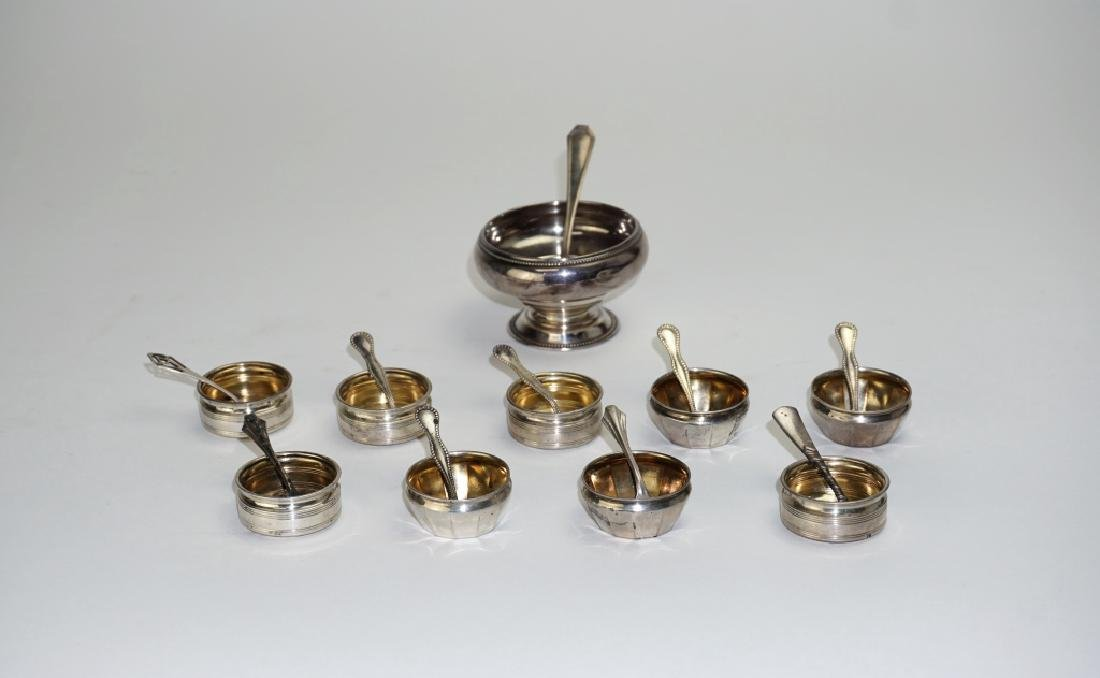 20pc ASSORTED STERLING SILVER SALT CELLARS - 8