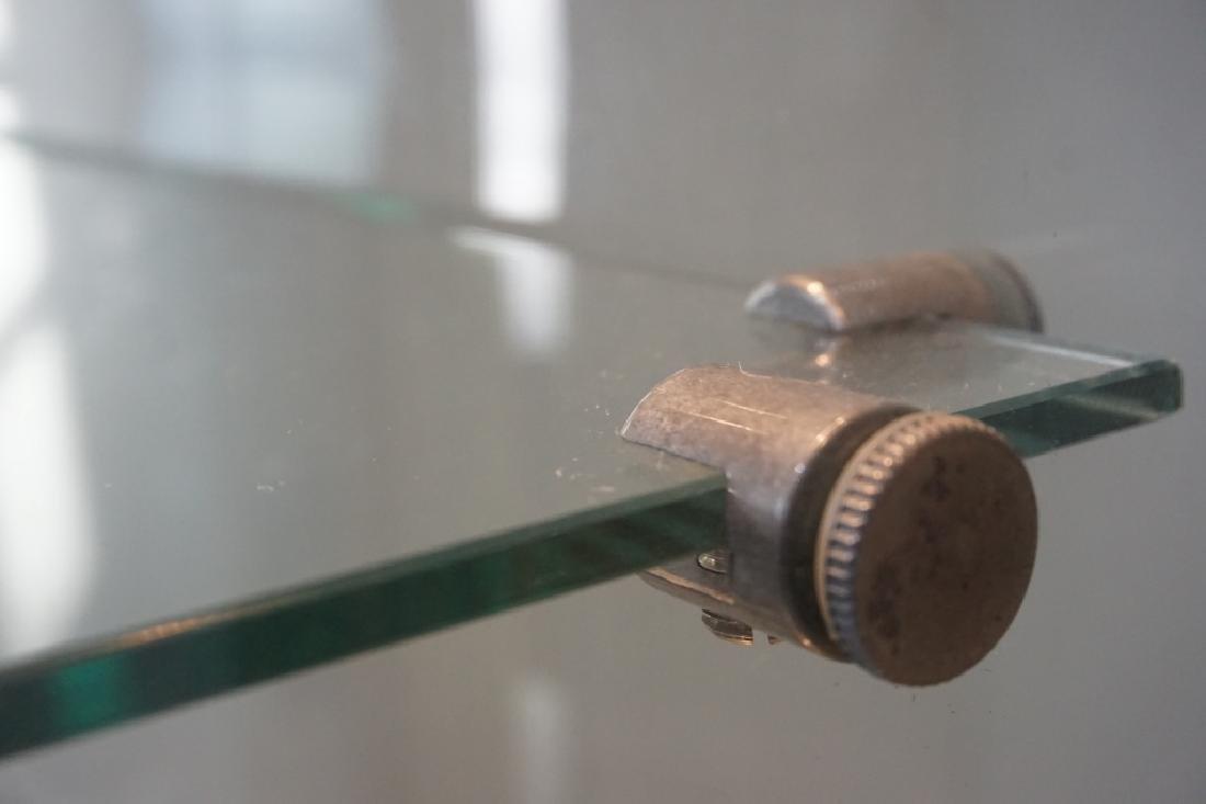 MODERN PILLAR AND GLASS CURIO CABINET - 6
