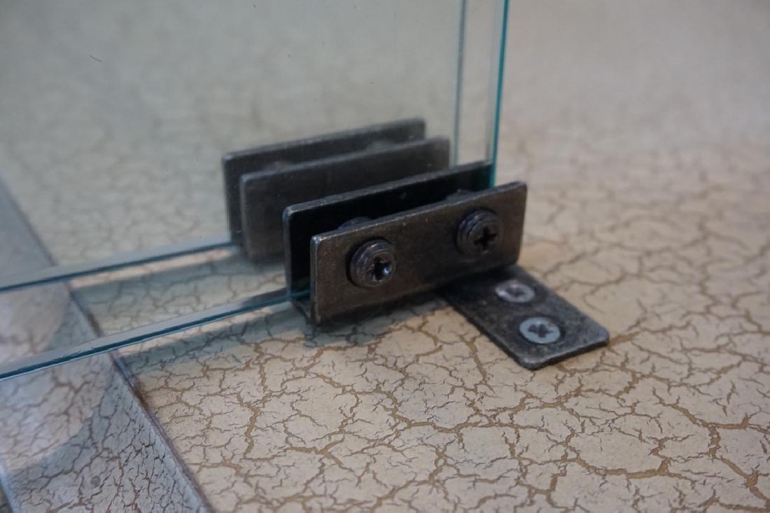 MODERN PILLAR AND GLASS CURIO CABINET - 7