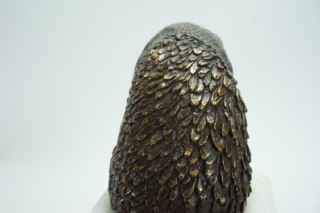 BRONZE GOLDEN EAGLE HEAD STATUE BY BJ GWINNELL - 3