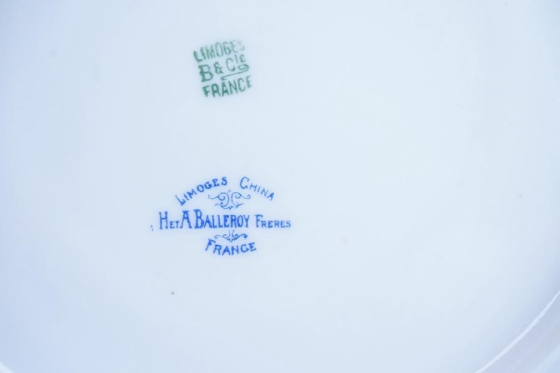 (6) ANTIQUE LIMOGES FLORAL PATTERN DINNER PLATES - 2