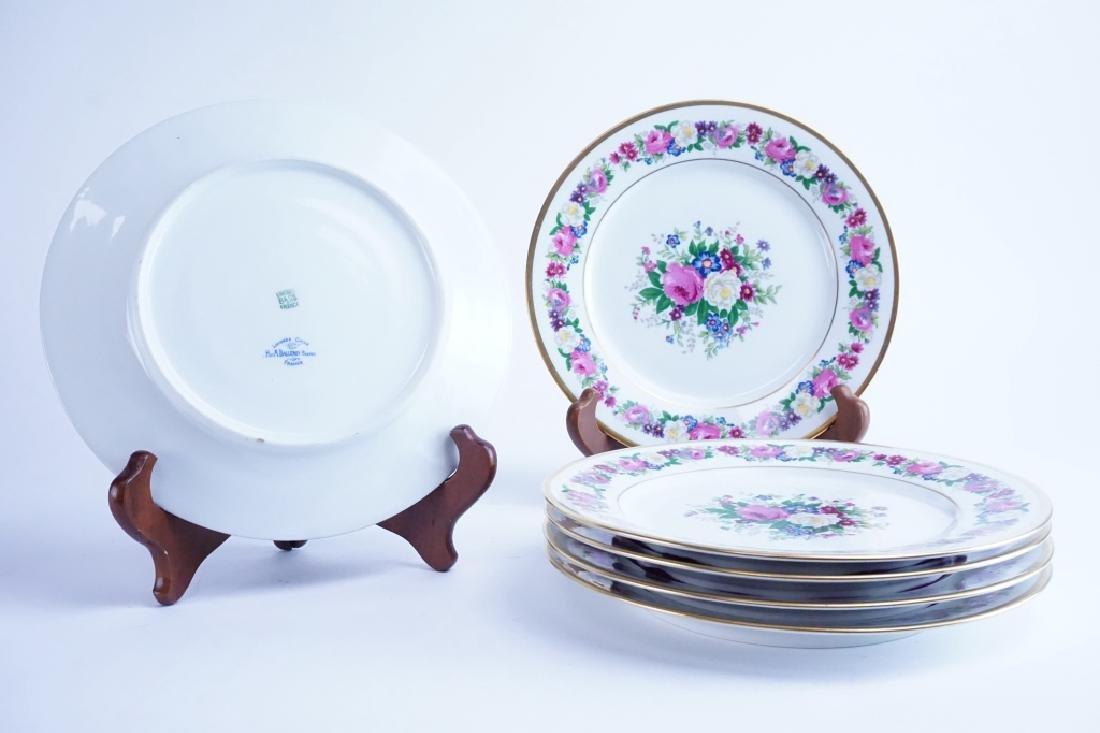 (6) ANTIQUE LIMOGES FLORAL PATTERN DINNER PLATES - 4