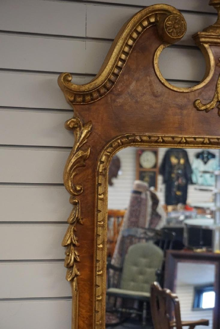 PAIR FEDERAL STYLE AND PARCEL GILT MIRRORS - 4