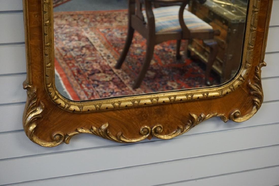 PAIR FEDERAL STYLE AND PARCEL GILT MIRRORS - 5