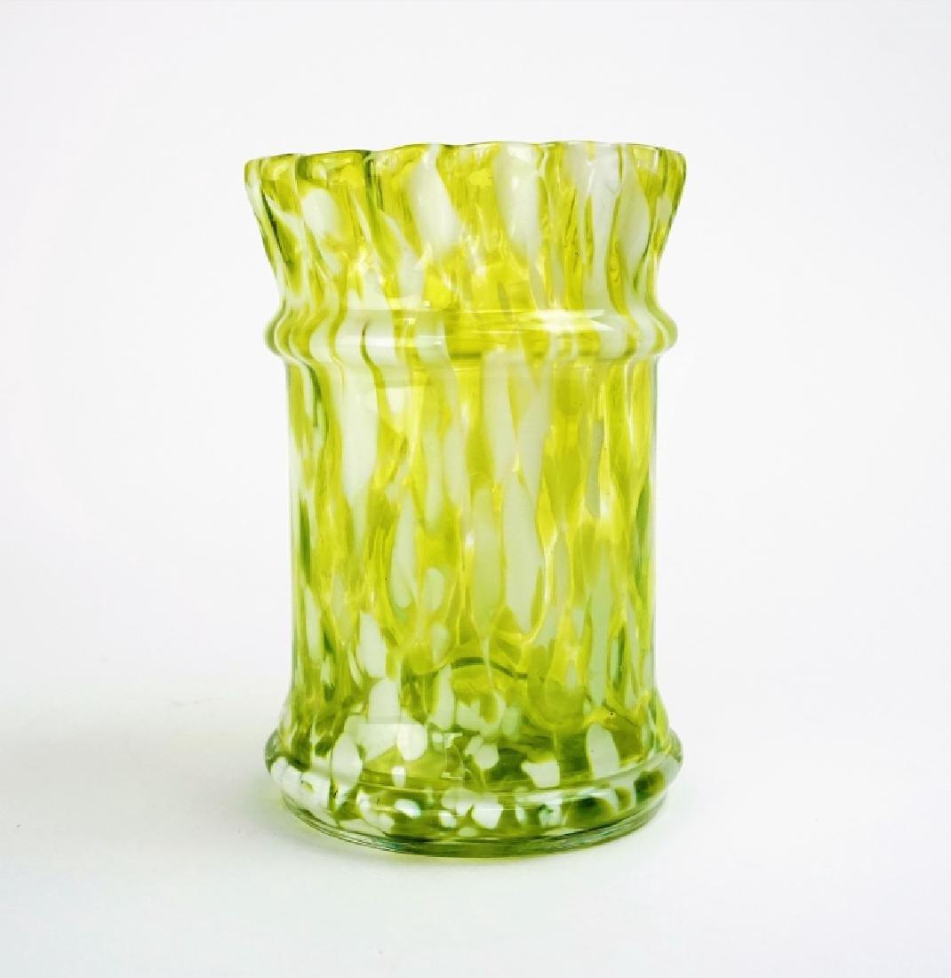ANTIQUE ART GLASS VASE