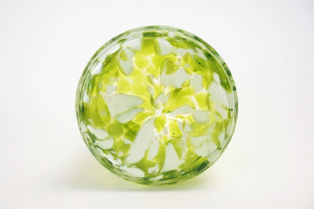 ANTIQUE ART GLASS VASE - 4