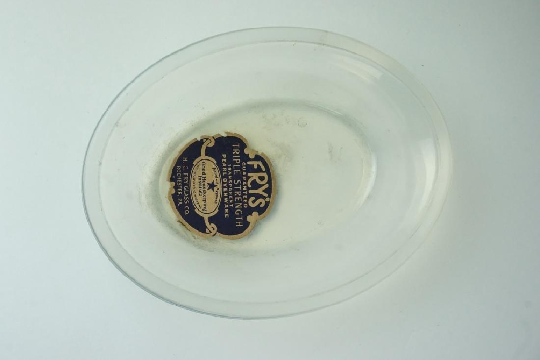 13pcs ASSORTED ANTIQUE OPALESCENT FRY GLASS - 3