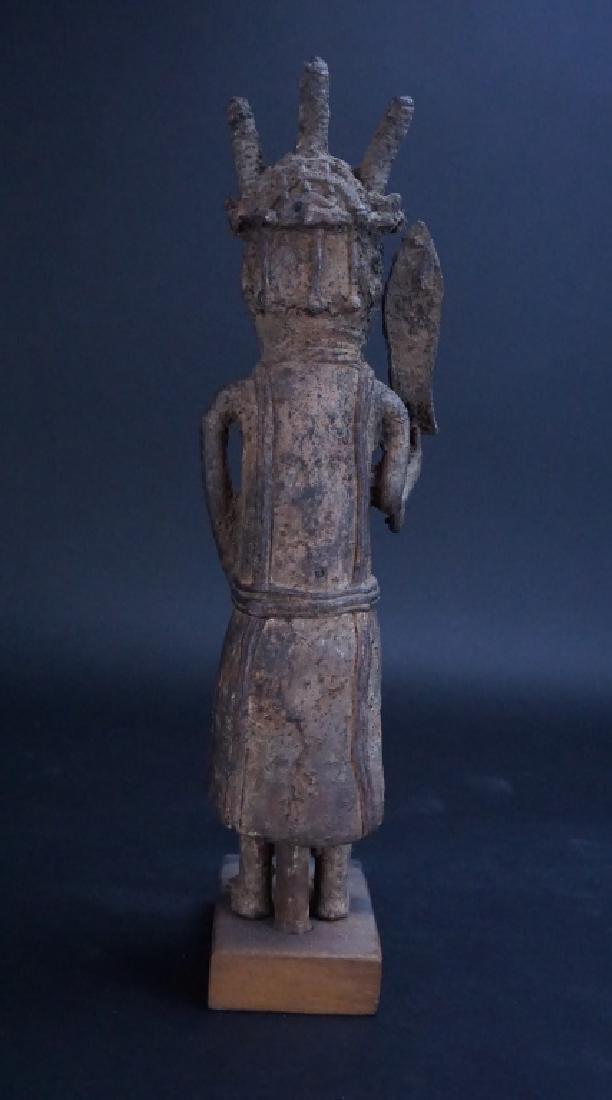 ETHNIC AFRICAN METAL WARRIOR FIGURE - 3