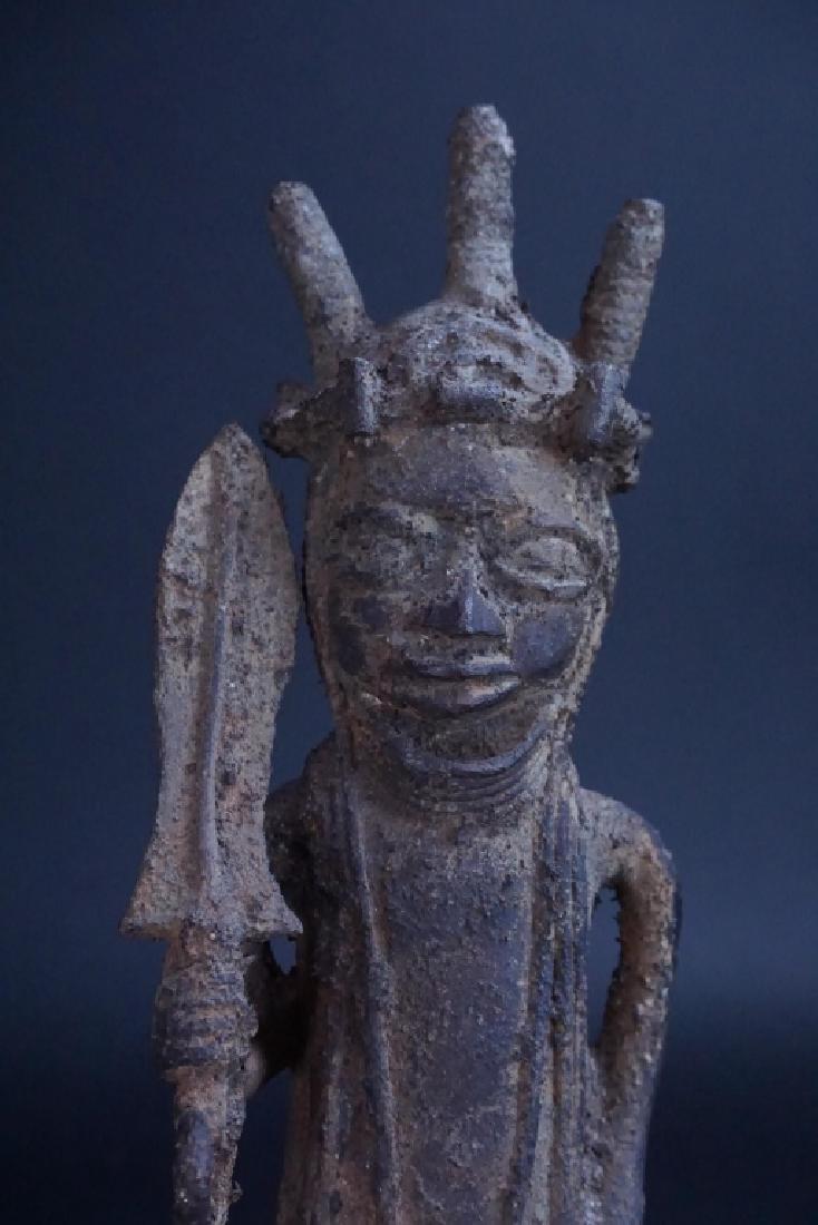 ETHNIC AFRICAN METAL WARRIOR FIGURE - 4
