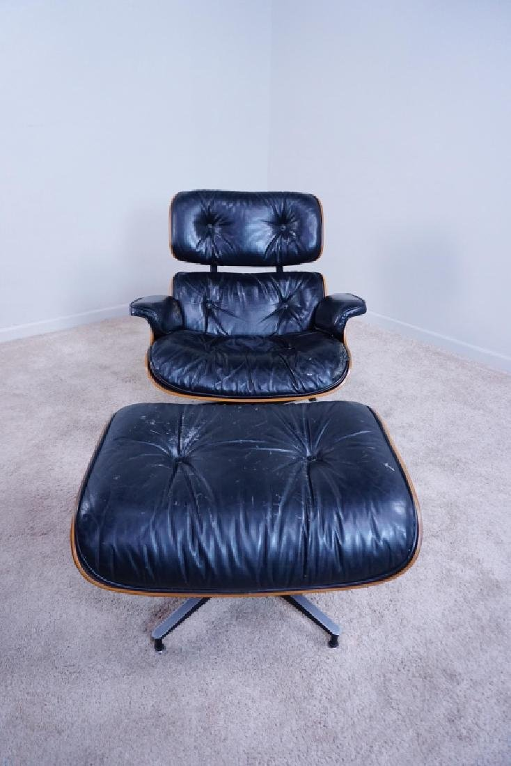MILLER EAMES LOUNGE CHAIR & OTTOMAN
