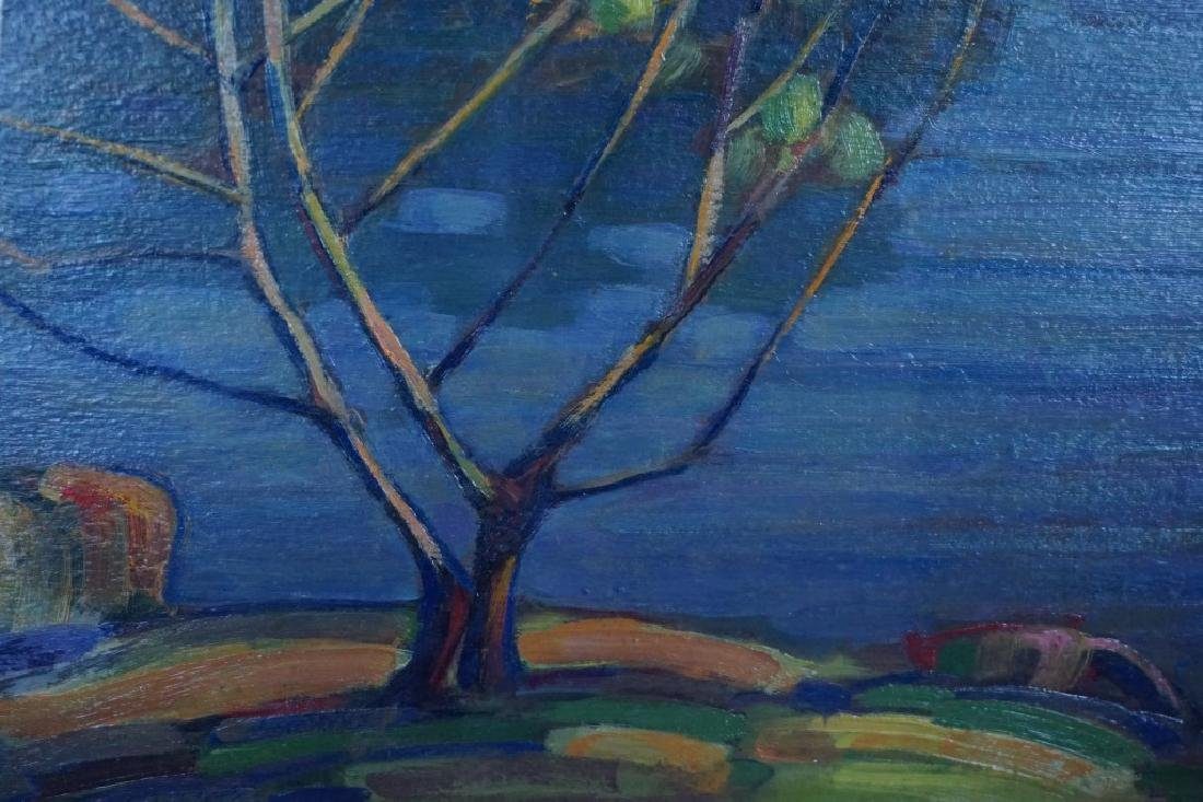 OIL ON BOARD COUNTRY LAKE LANDSCAPE - 2