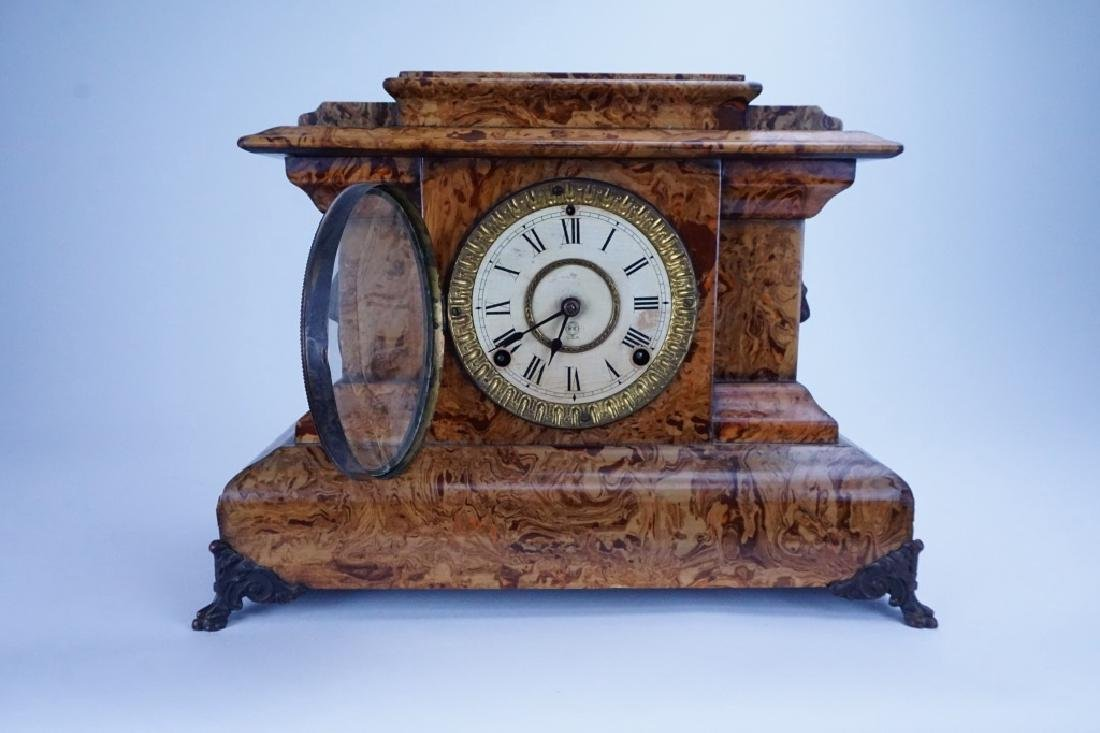 THOMAS ADAMANTINE FAUX MARBLE CLOCK - 2