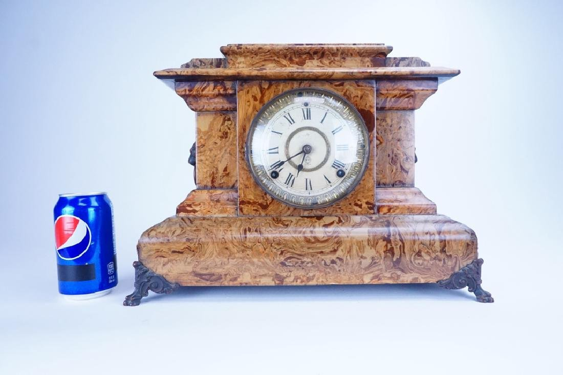 THOMAS ADAMANTINE FAUX MARBLE CLOCK - 9