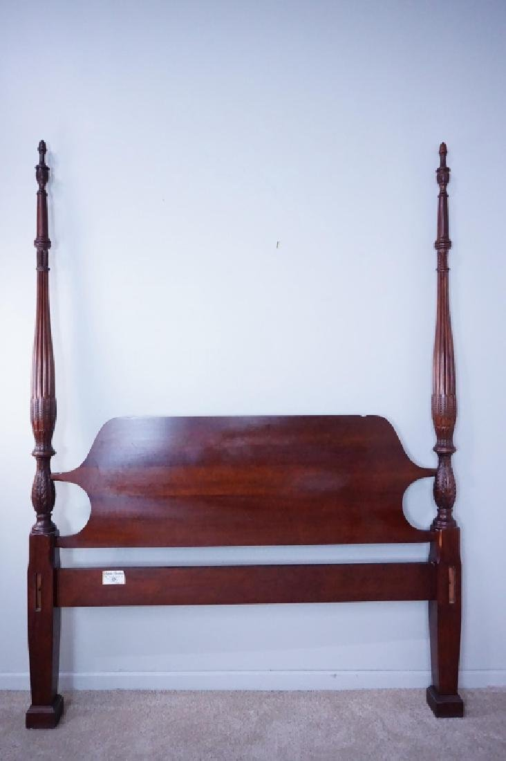 CRAFTIQUE MAHOGANY CARVED 4 POSTER BED FRAME