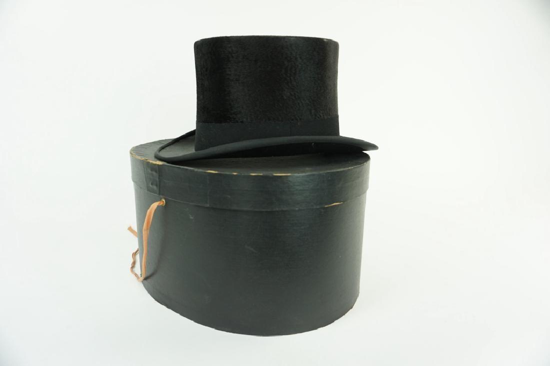JOHN CAVANAGH STOVE PIPE BEAVER TOP HAT