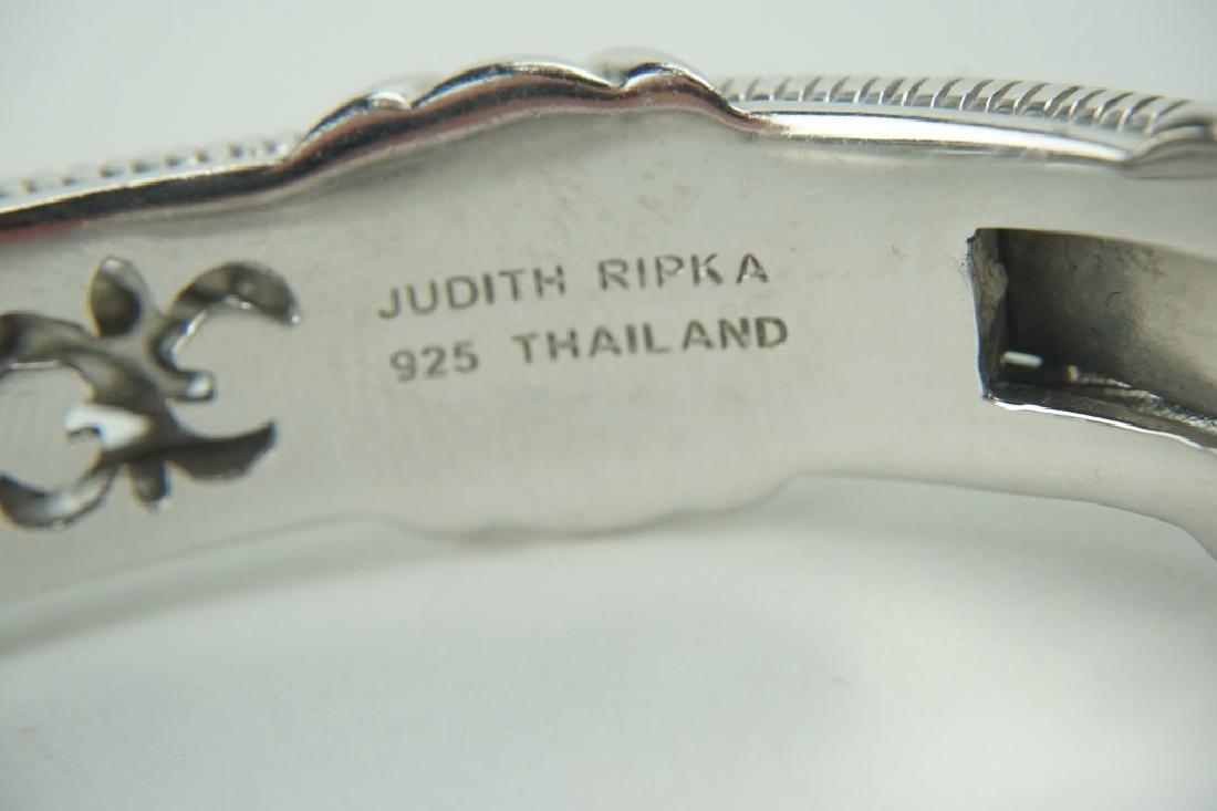 JUDITH RIPKA STERLING AMETHYST CUFF BRACELET - 3