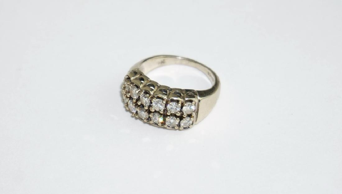 14K YELLOW GOLD AND DIAMOND RING - 2