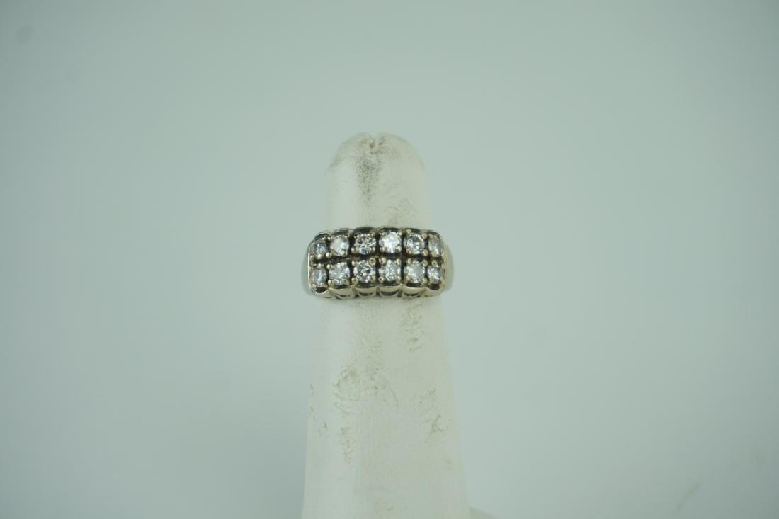 14K YELLOW GOLD AND DIAMOND RING - 3