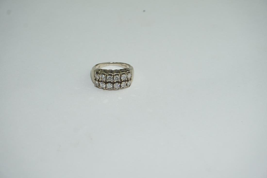 14K YELLOW GOLD AND DIAMOND RING - 5