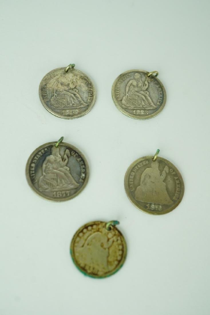 (5) COIN BRACELET CHARMS