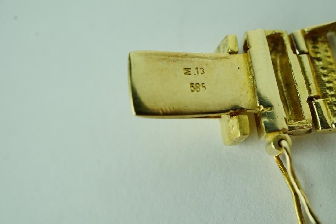 14K YELLOW GOLD BRACELET - 4