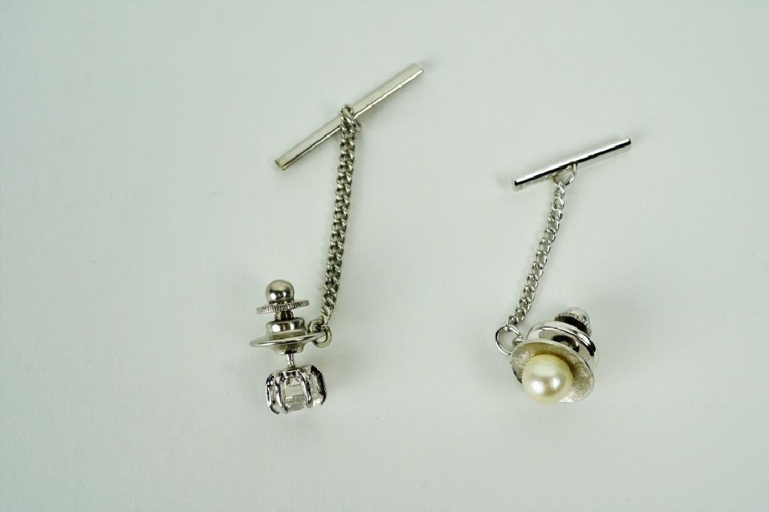 (2) ASSORTED GENTLEMEN'S TIE TACKS