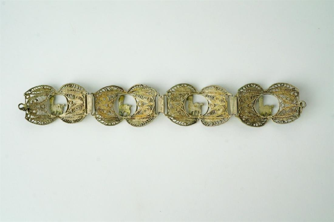 STERLING MIDDLE EASTERN RETICULATED BRACELET