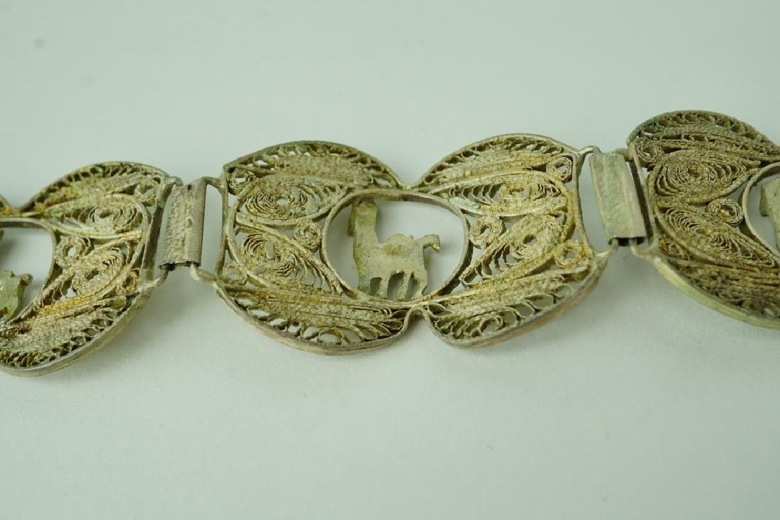 STERLING MIDDLE EASTERN RETICULATED BRACELET - 2