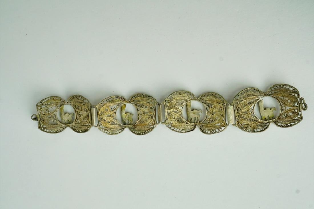 STERLING MIDDLE EASTERN RETICULATED BRACELET - 3