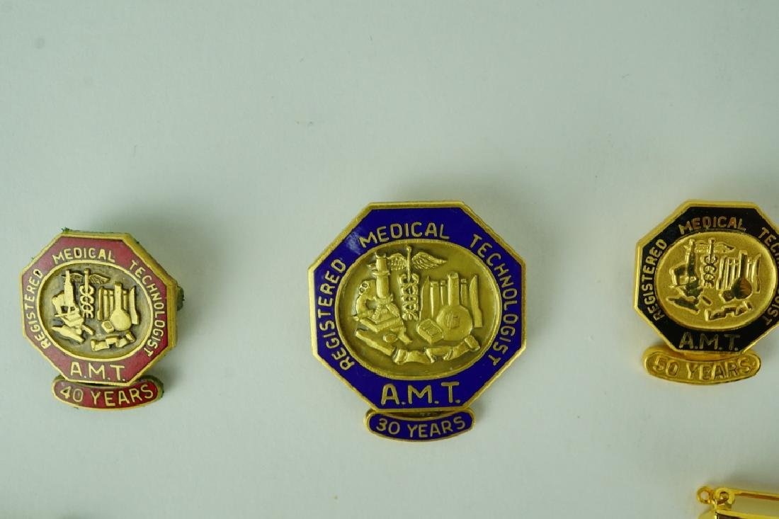 (8) ASSORTED REGISTERED MEDICAL TECHNOLOGIST PINS - 2