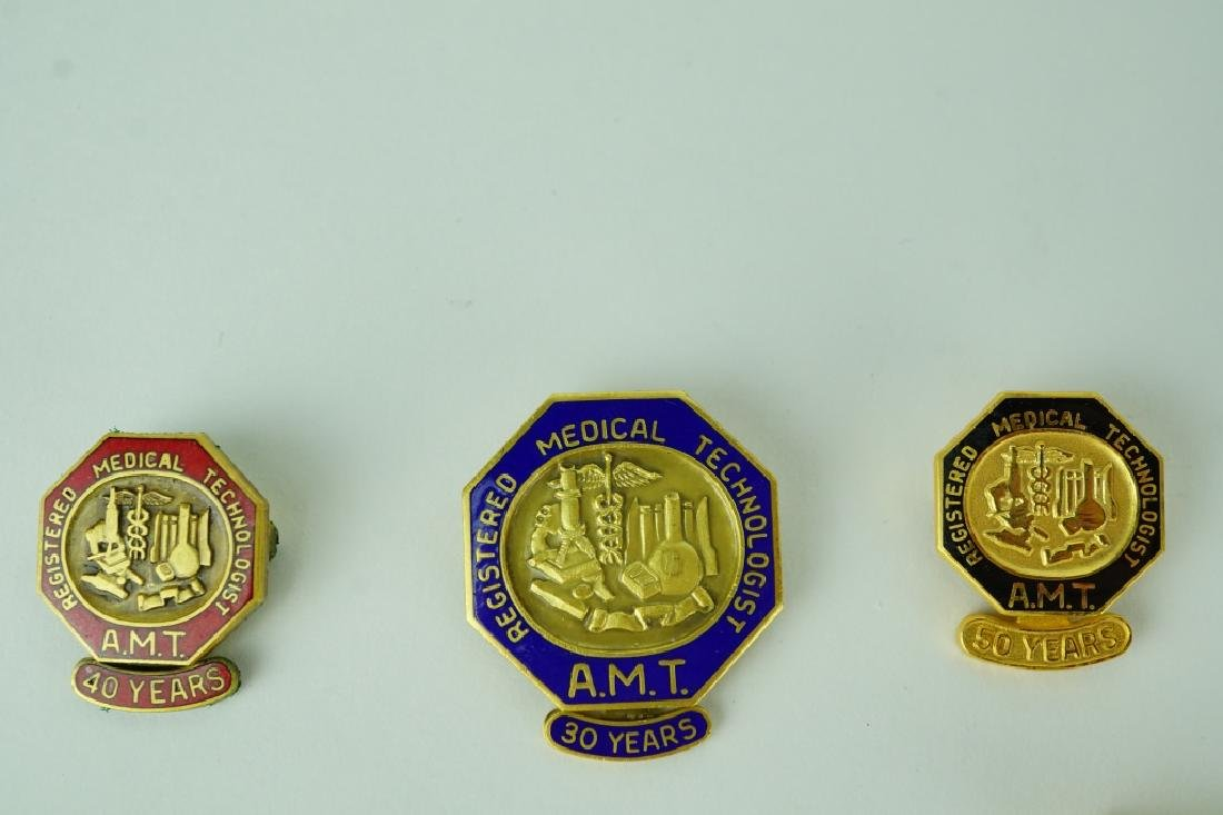 (8) ASSORTED REGISTERED MEDICAL TECHNOLOGIST PINS - 3