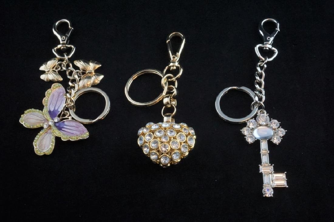 (3) ASSORTED DESIGNER KEYCHAINS