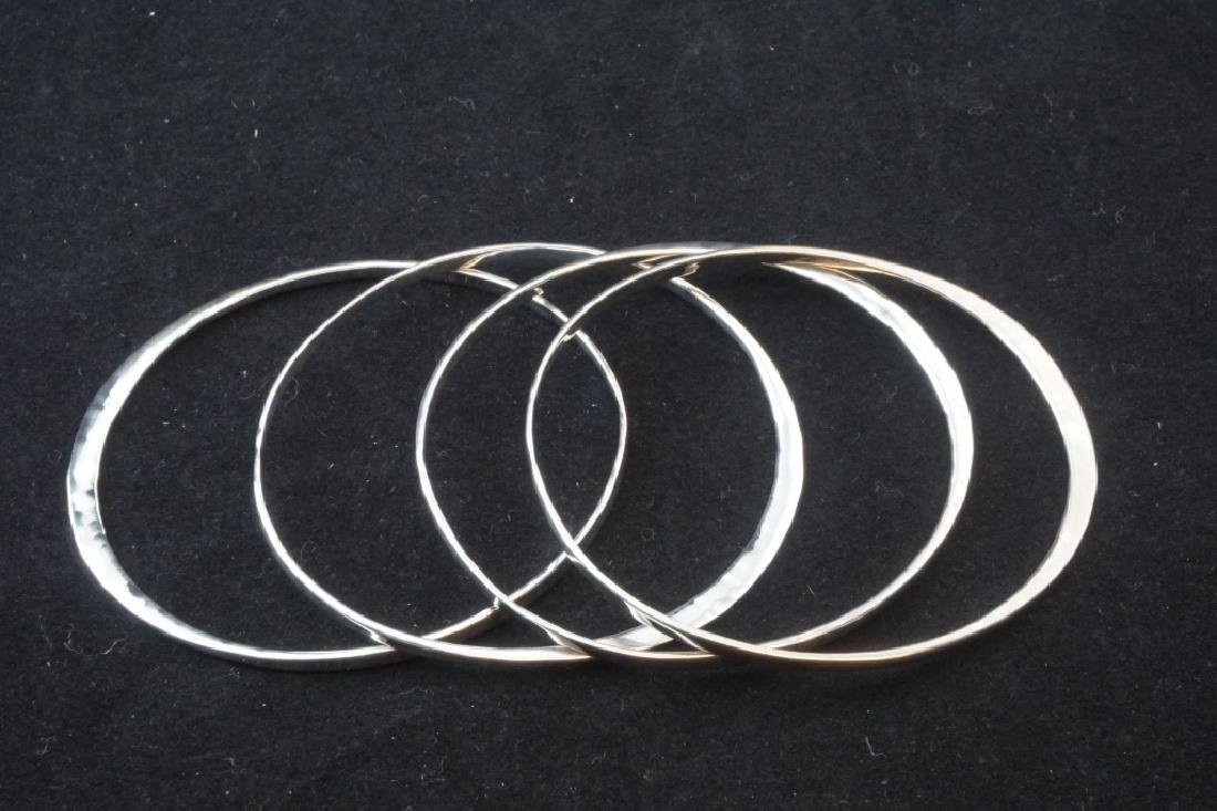 (4) STERLING ROBERT LEE MORRIS BANGLE BRACELETES