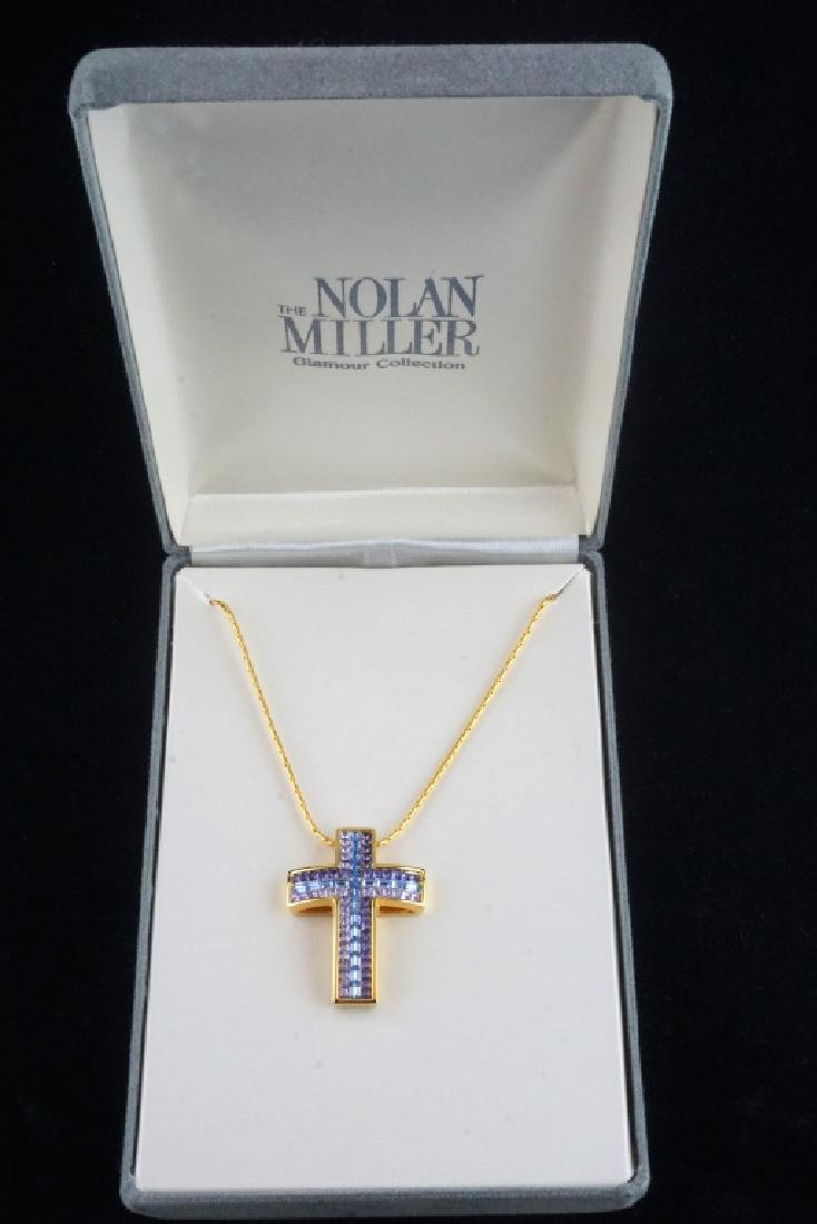 NOLAN MILLER CRYSTAL CROSS PENDANT & CHAIN