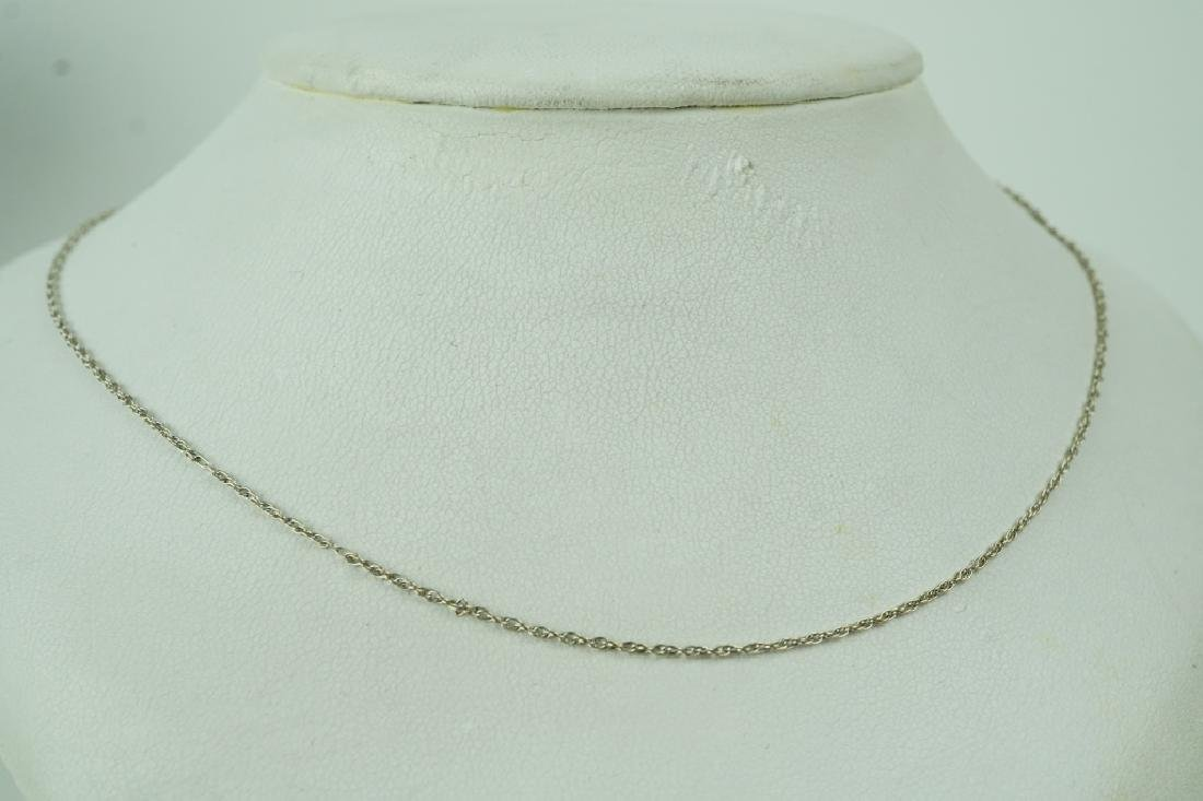 "14K WHITE GOLD 19"" NECKLACE"