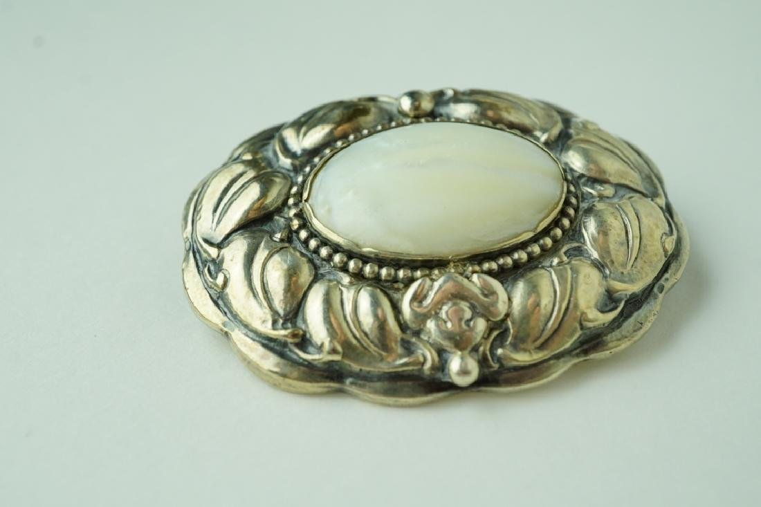 (2) ASSORTED SILVER BROOCHES - 4