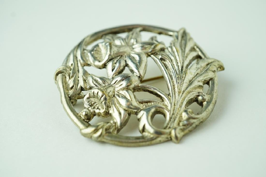 (2) ASSORTED SILVER BROOCHES - 5