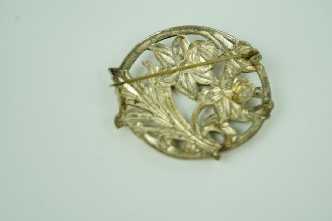 (2) ASSORTED SILVER BROOCHES - 8