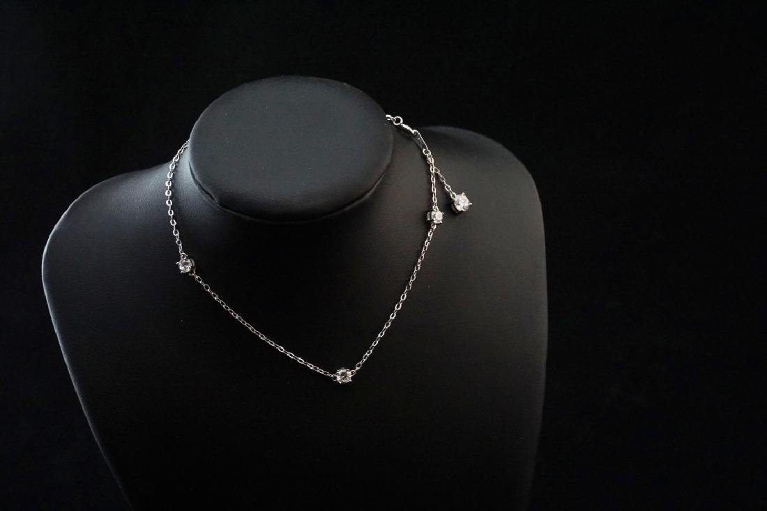 STERLING SILVER AND CRYSTAL ANKLE BRACELET