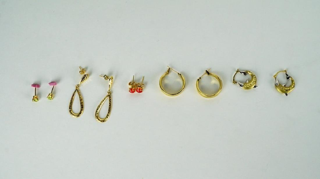 (5) PAIRS ASSORTED GOLD EARRINGS