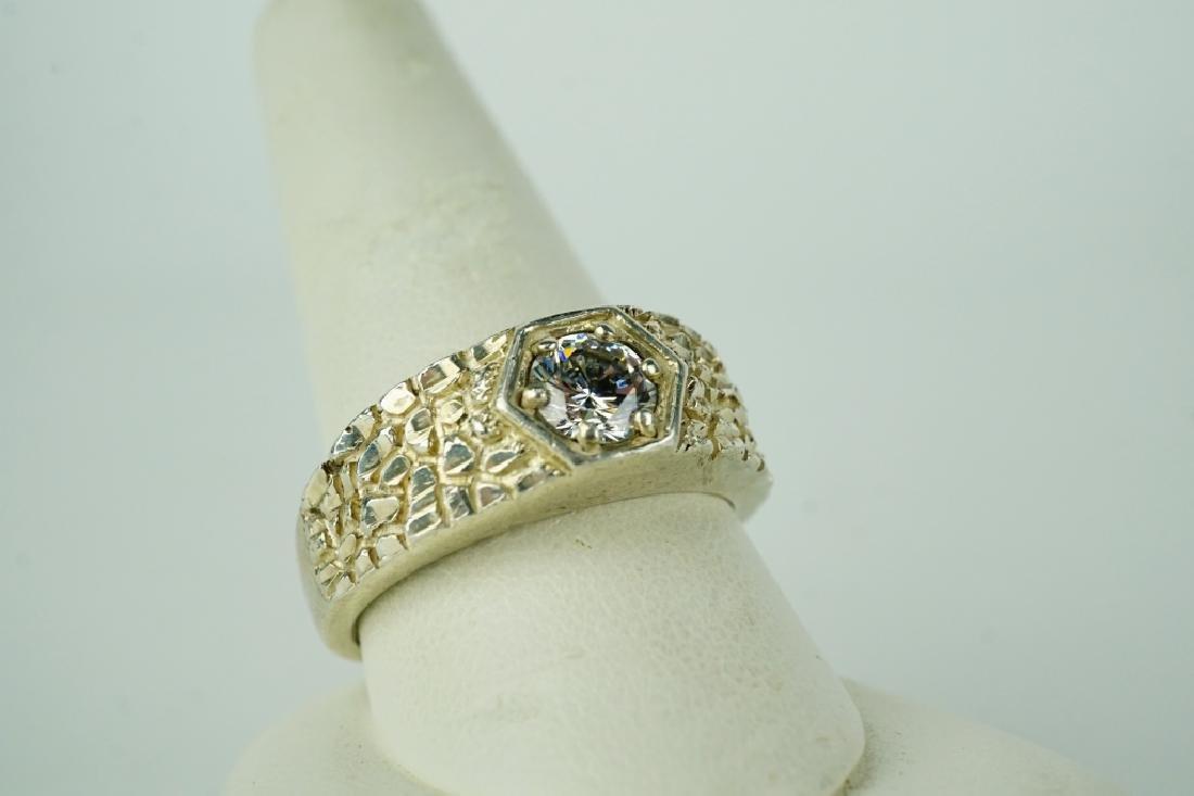 VINTAGE GABANA DIAMOND STERLING SILVER MEN'S RING