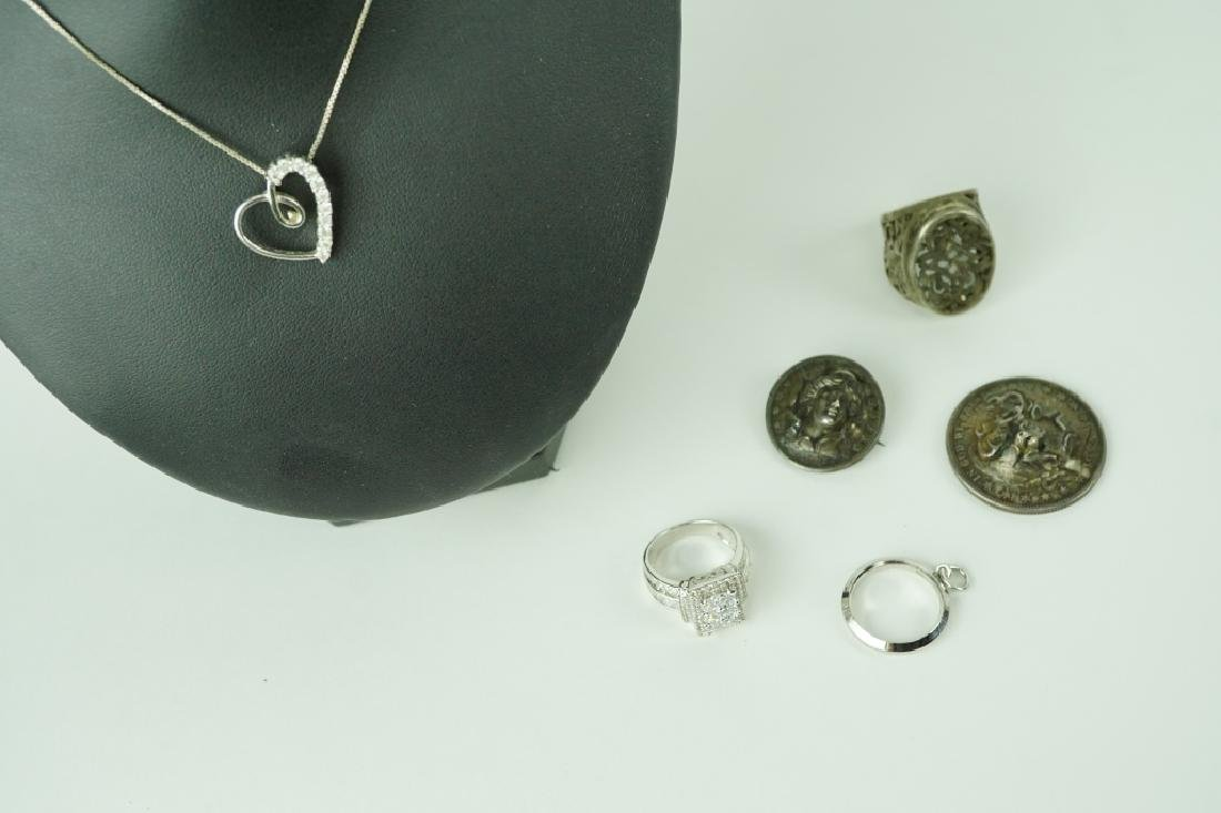 6pcs ASSORTED STERLING SILVER JEWELRY