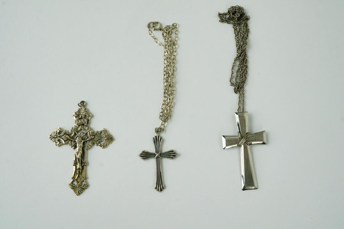 5pc ASSORTED RELIGIOUS LOT INCLUDING STERLING
