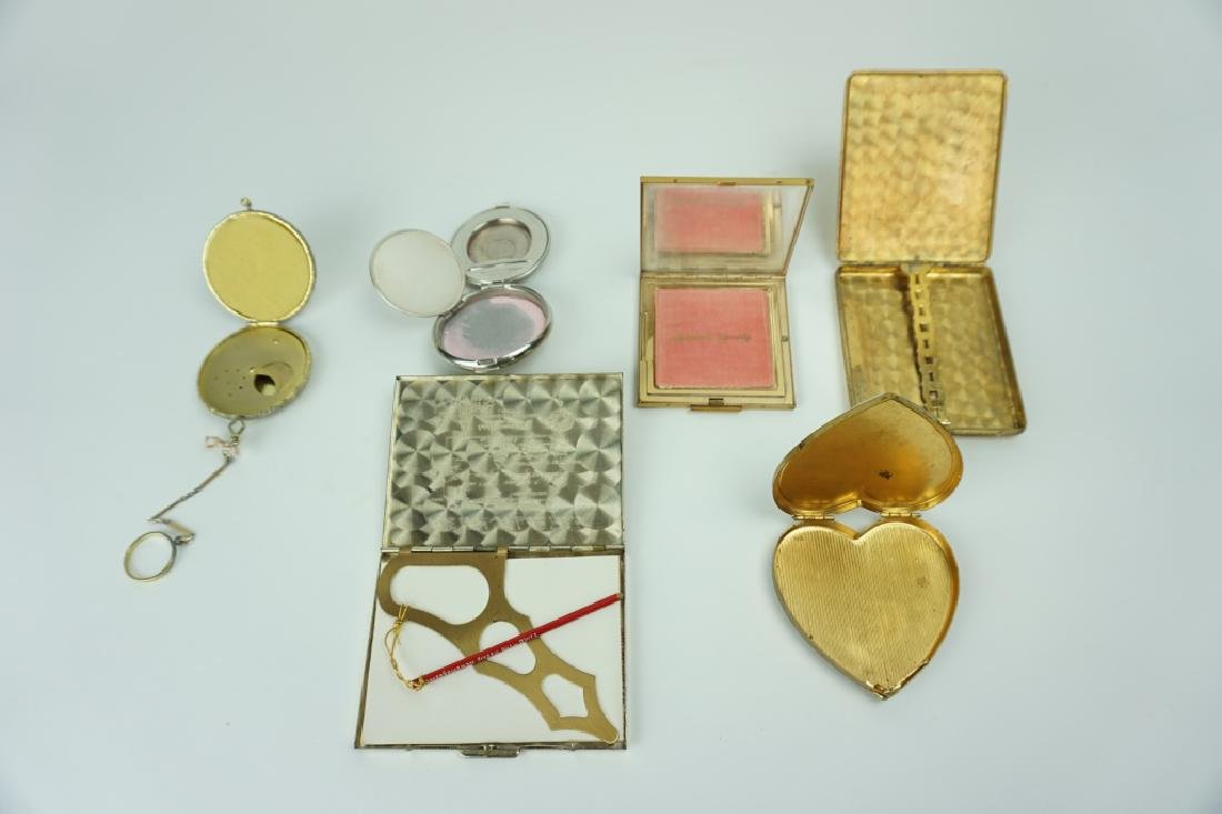 (6) ASSORTED VINTAGE COMPACTS & CASES
