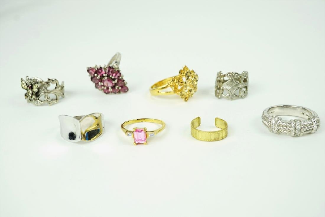 (8) ASSORTED STERLING SILVER RINGS