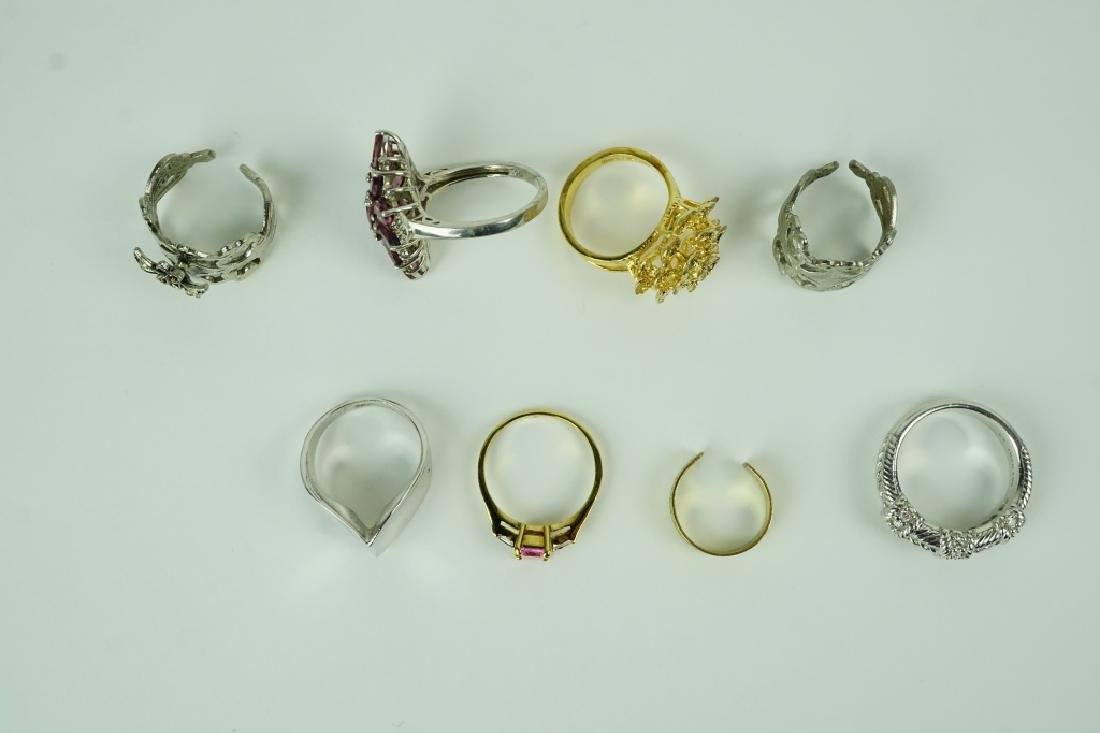 (8) ASSORTED STERLING SILVER RINGS - 2