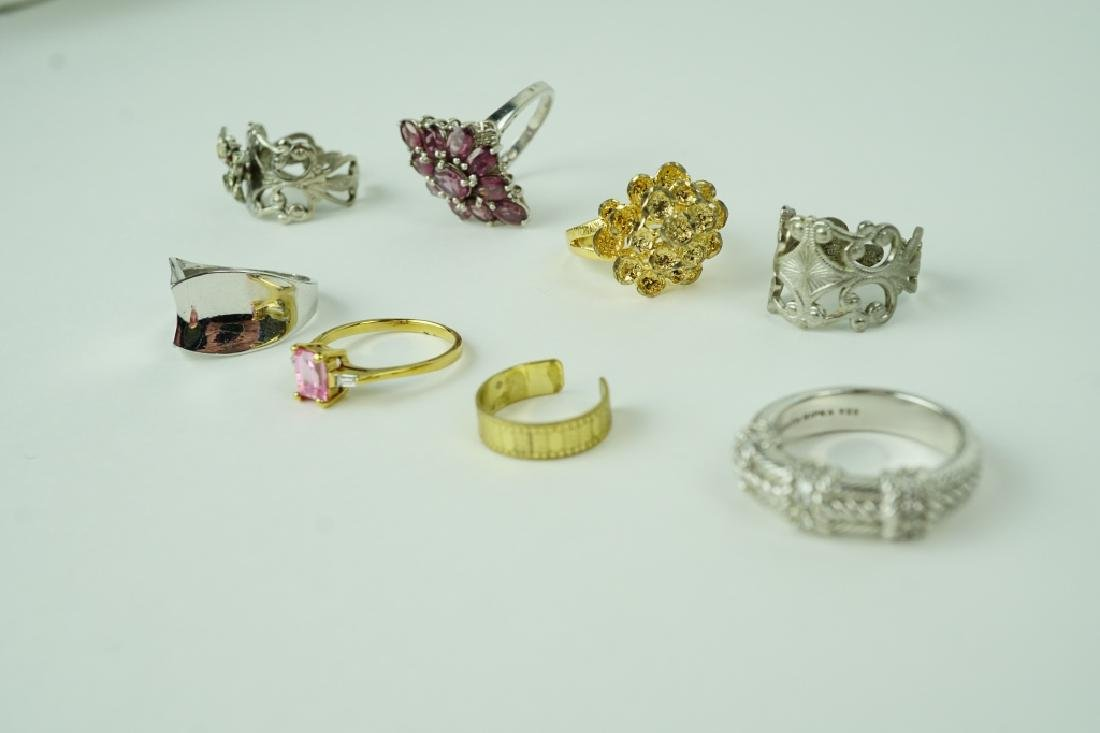(8) ASSORTED STERLING SILVER RINGS - 3